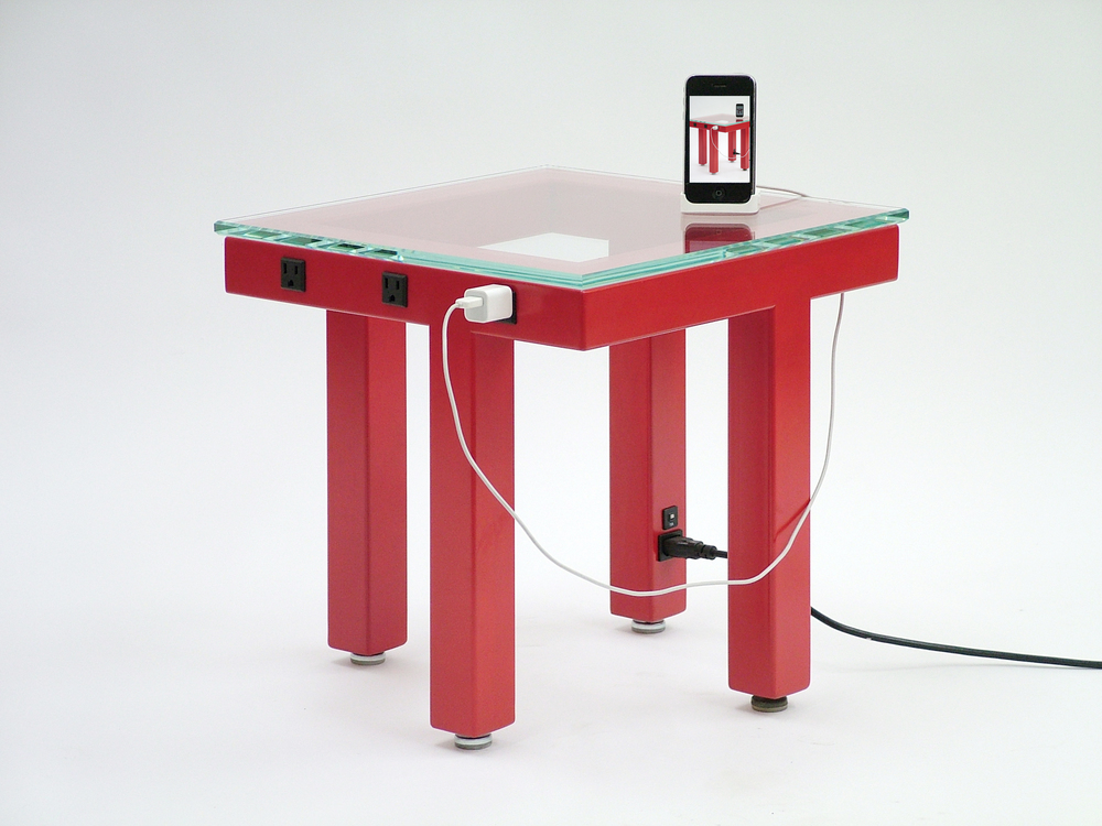 Side Wired Table - Red