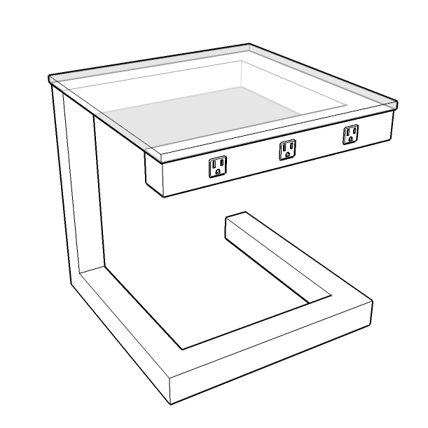 Side Wired Table - Illustration