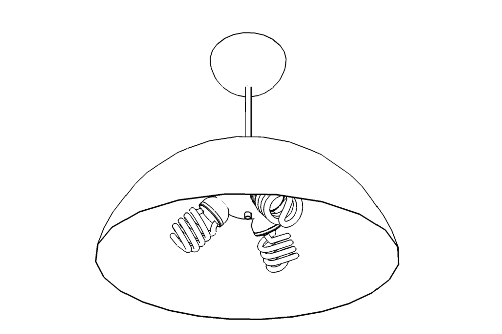 Triple-3 Dome Pendant - Illustration