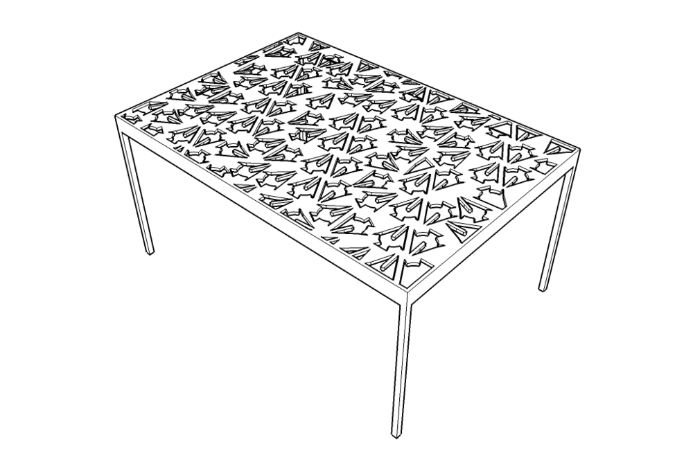 Swarf Table - Illustration