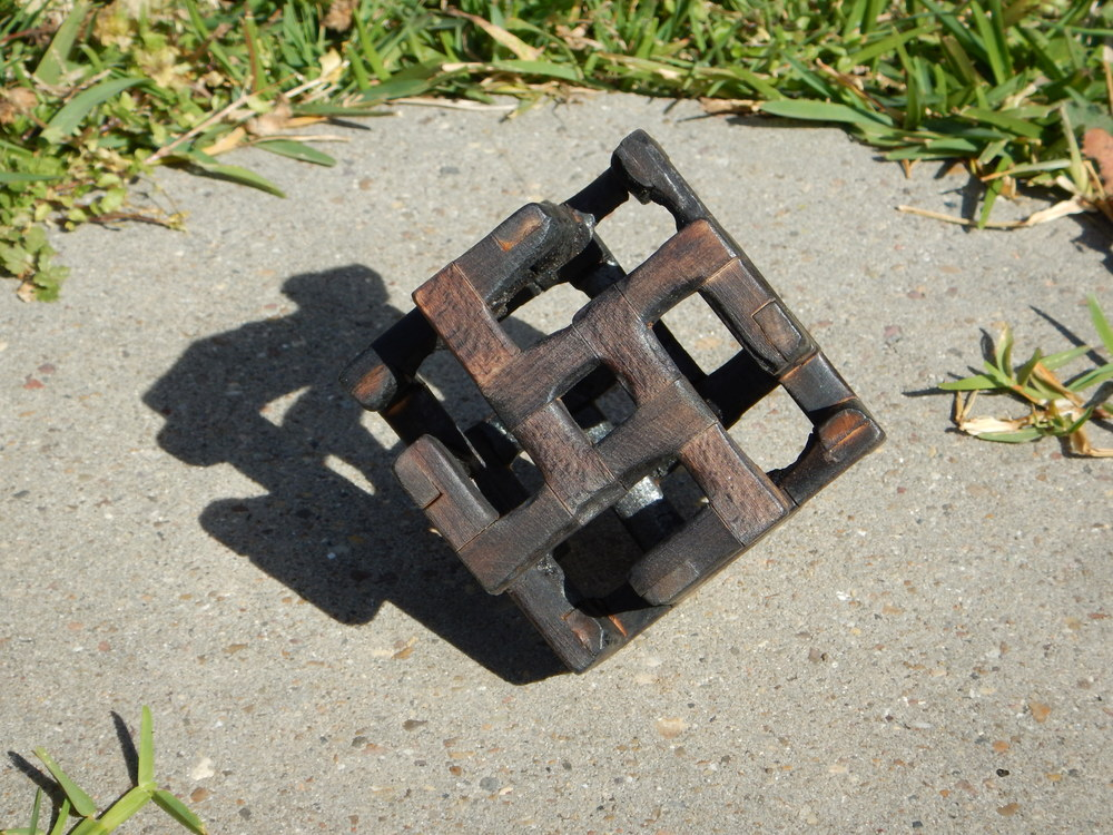 Burnt Mini Wood Fez Cube