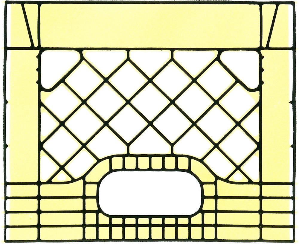 Milkcrate Print (Yellow)