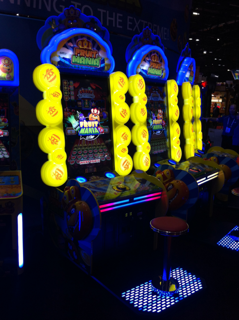 Final product of built Fruit Mania game at Dave & Busters.