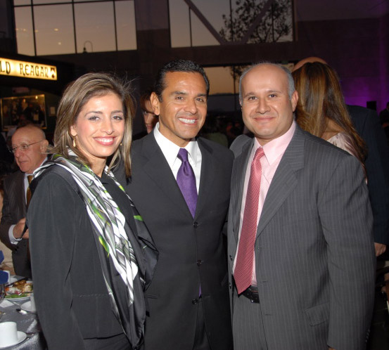 Mr. and Mrs. Kassabian with former Los Angeles Mayor Antonio Villaraigosa
