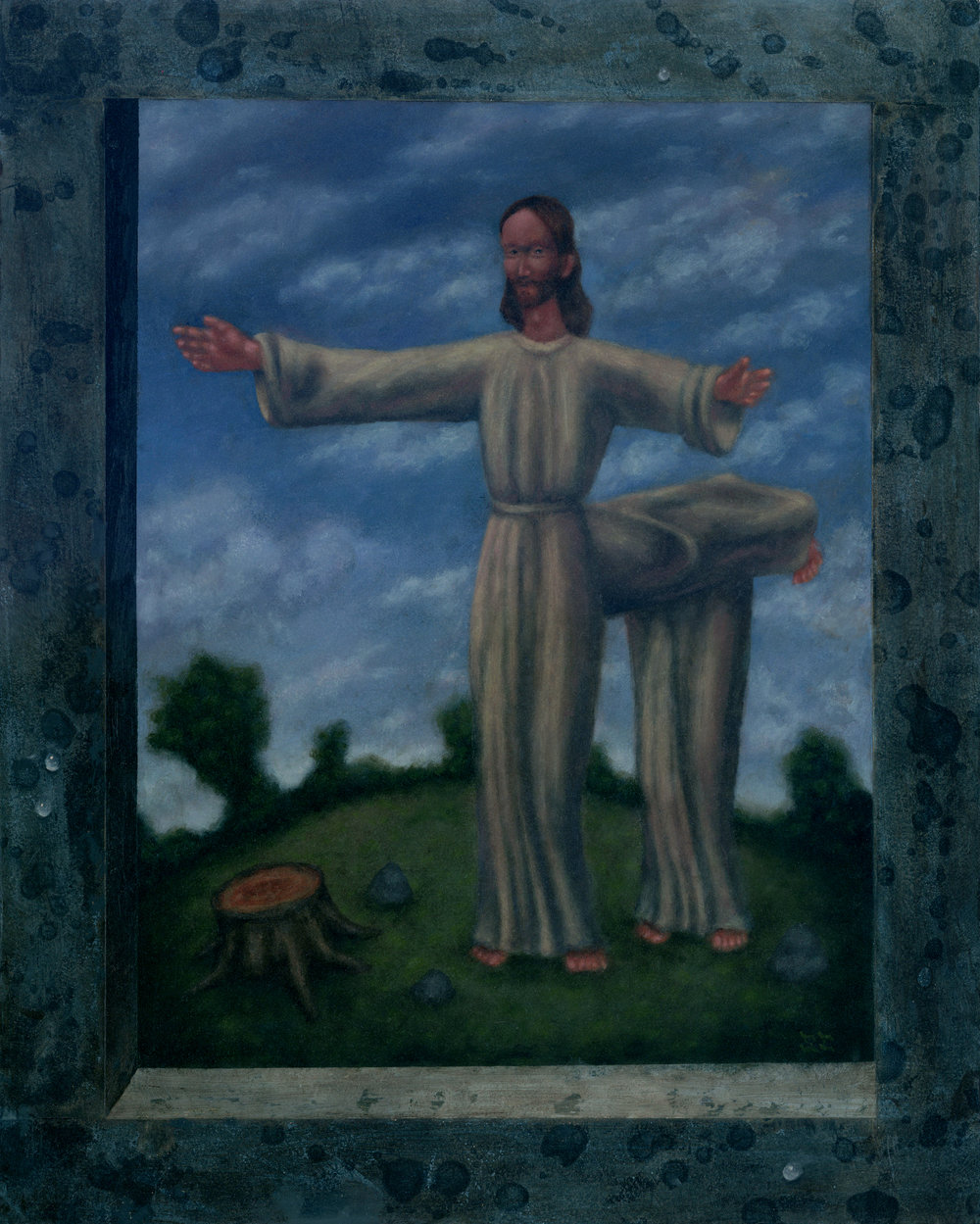 """Jesus h. Christ/Lutheran Centaur/Christ-henge"""