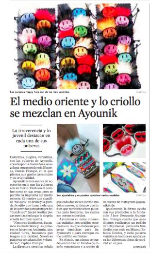 NOV 17, 2017. EL UNIVERSAL NEWSPAPER, CARACAS, VENEZUELA