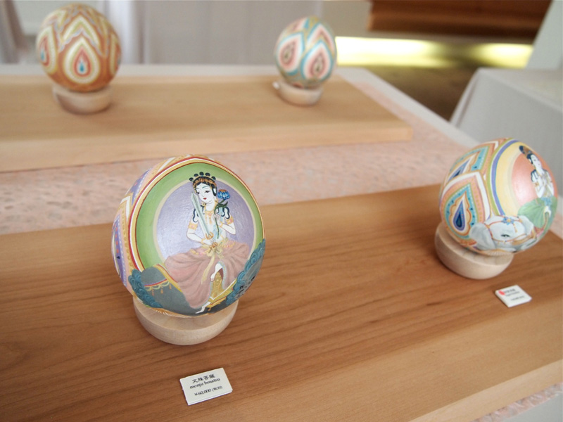 文殊菩薩(卯年)・普賢菩薩(巳・辰年) (2014) Acrylic on Wood /Size: 80mmφ