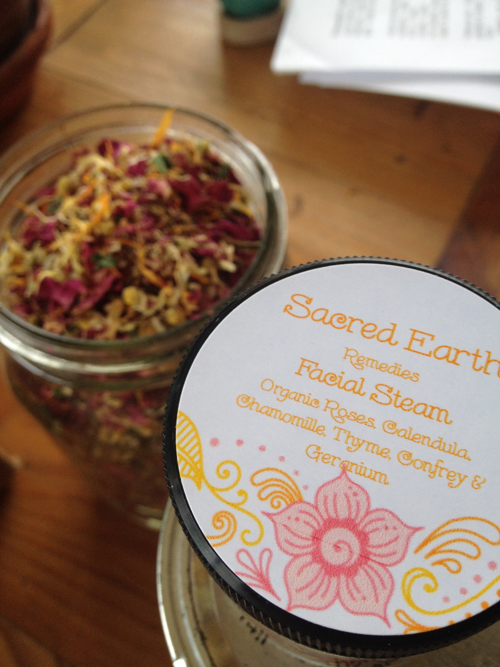 Facial Steam. Made with roses, thyme, calendula, chamomile. As simple as that!