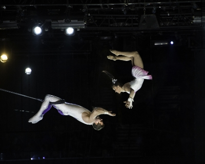 The Solar Hawks - Double Trapeze // Image © Ringling Bros. and Barnum & Bailey; Feld Entertainment