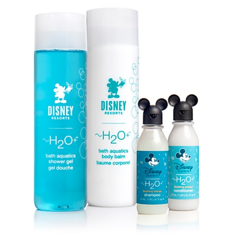 Yes, even magical bath products. The little touches of magic are infused EVERYWHERE, even the cutest little lotion and body wash bottles. Now, you can get a pixie dusted shower at home with their H2O bath aquatics collection!