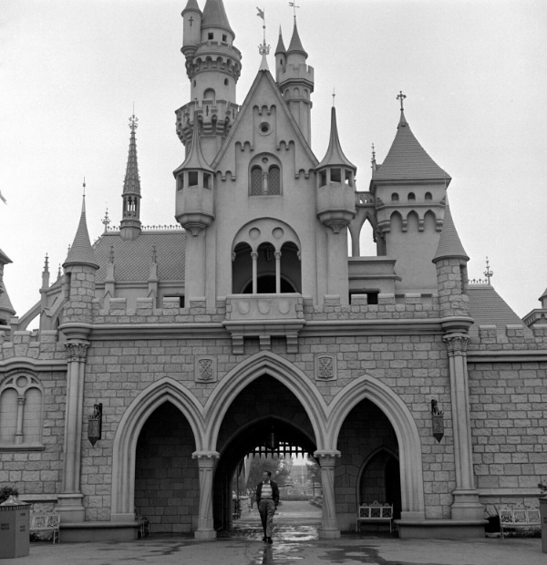 Walt taking a morning walk through the Castle // Image © Disney