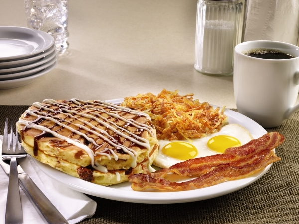 Sticky Bun Pancake Breakfast - Image © Denny's