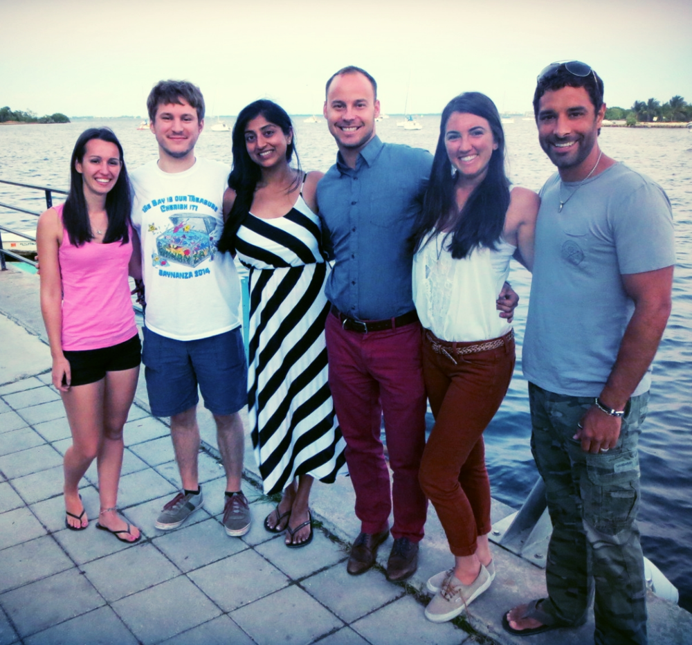 The Debris Free Oceans Board of Directors, from left to right, Amanda Broadwell, Nathan Laxague, Saira Fida, Jeremy Waks, Caiti Pomerance, and David Garcia.