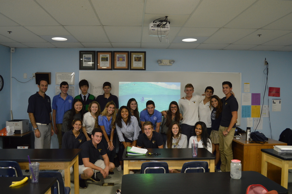 Debris Free educators are collaborating with local Miami high school, Palmer Trinity, to implement an interdisciplinary curriculum about the lifecycle of plastics in order to spur innovation from our future leaders. Photographed above, Debris Free Ocean's Co-founder Caiti Pomerance inspires classes at Palmer Trinity to become an integral part to the marine debris solution.