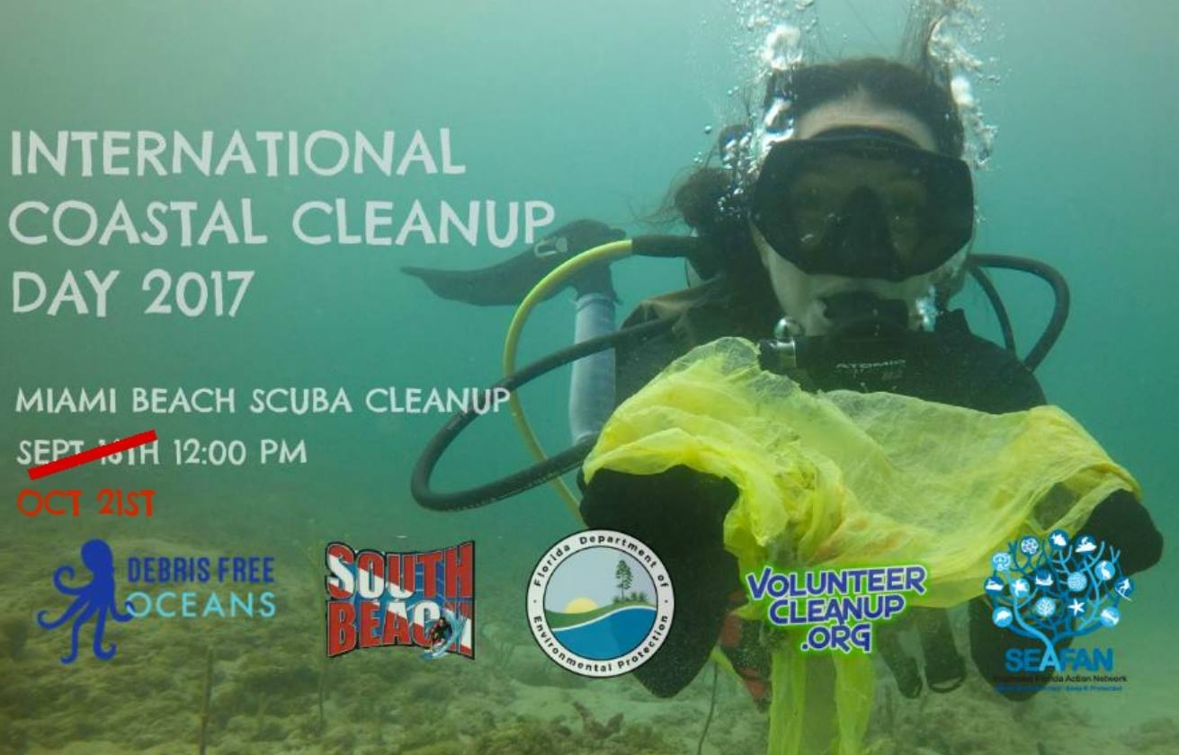 Miami scuba cleanup rescheduled intl coastal cleanup day miami scuba cleanup rescheduled intl coastal cleanup 1betcityfo Gallery