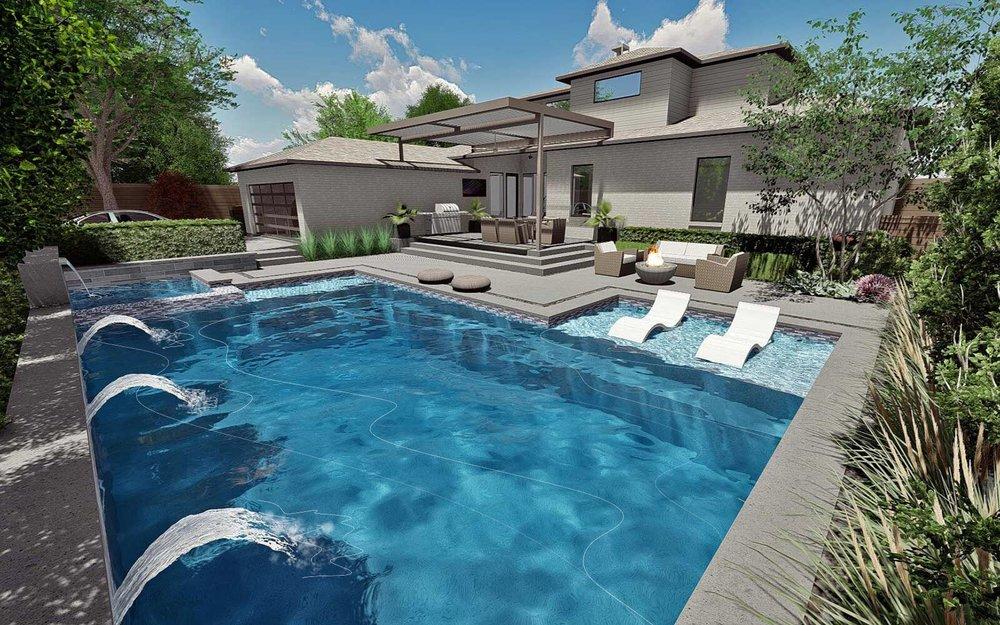 luxury modern swimming pool