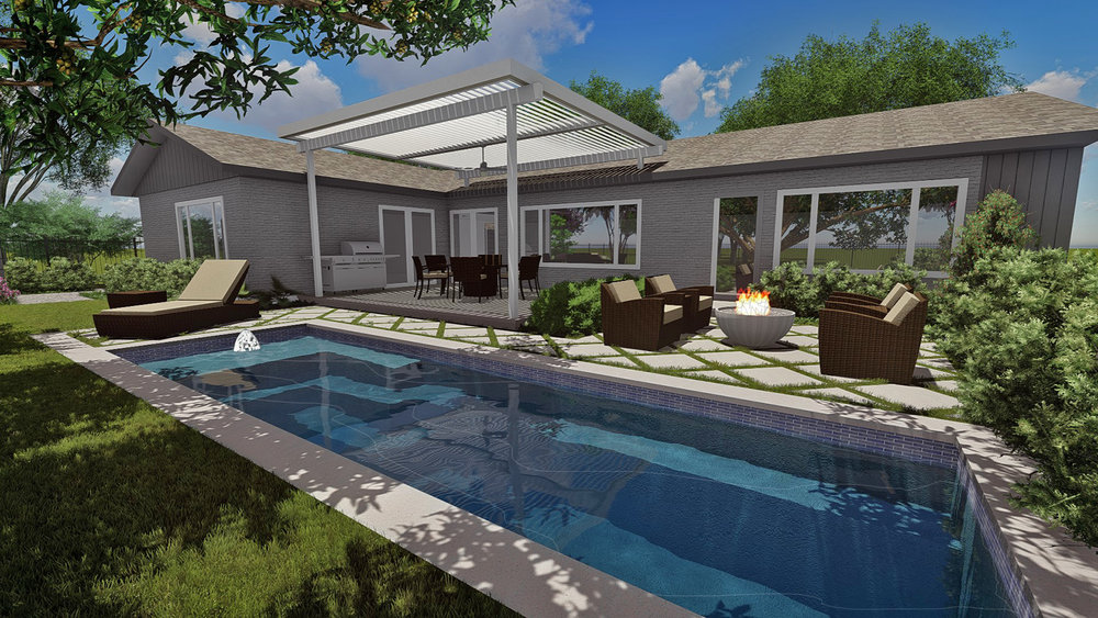 REAR POOL & PATIO RENDERING