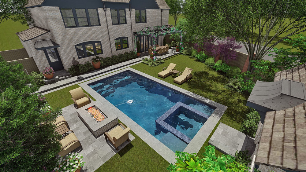 REAR GARDEN & NEW POOL