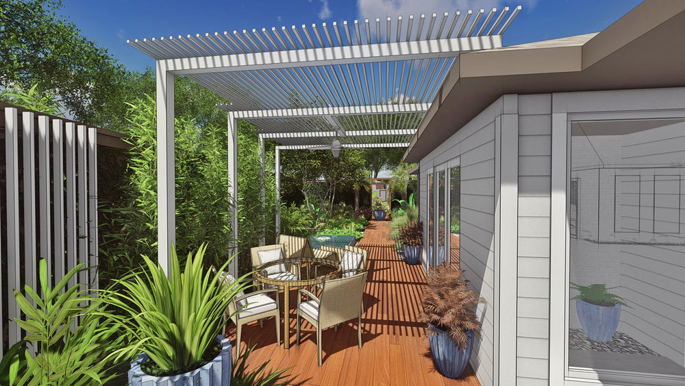 OUTDOOR SEATING & SHADE STRUCTURE
