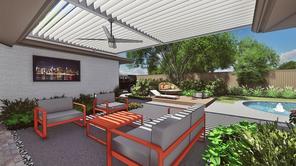 SHADE STRUCTURE OVER PATIO