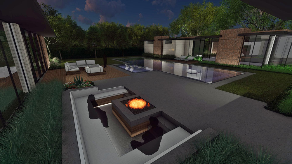 EVENING FIRE PIT AREA