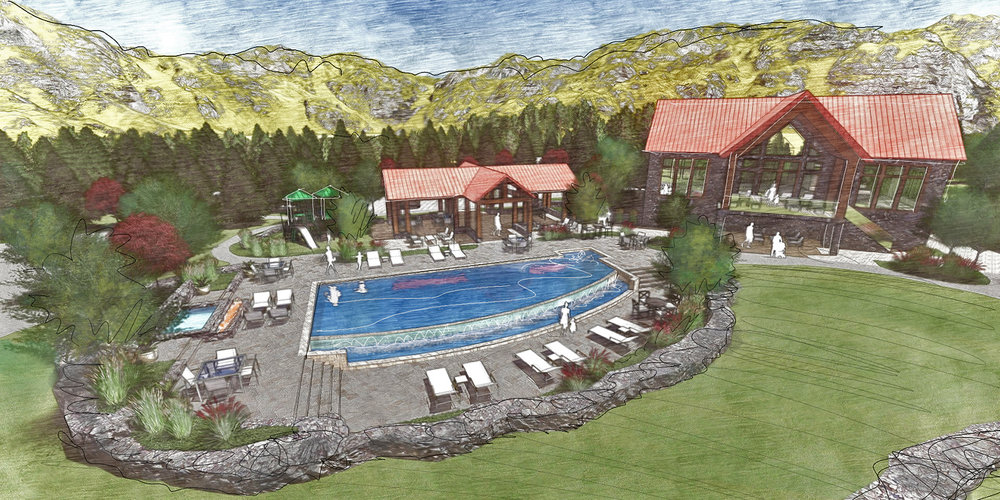 ELK PARK RANCH - Resident pool & amenity center
