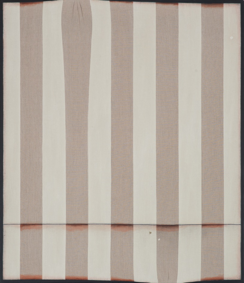 Peter Adsett   Painting number 4  2013  Gesso, acrylic paint, torn paper, masking tape, rice paper glue, linen, stretcher frame  106.5 x 91.5 x 2.2cm   AUD $9,000