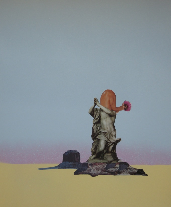 JK Russ  Desert Bacchante (Part 1)  2014  Mixed media on watercolour paper  35.5 x 43cm unframed   AUD $750