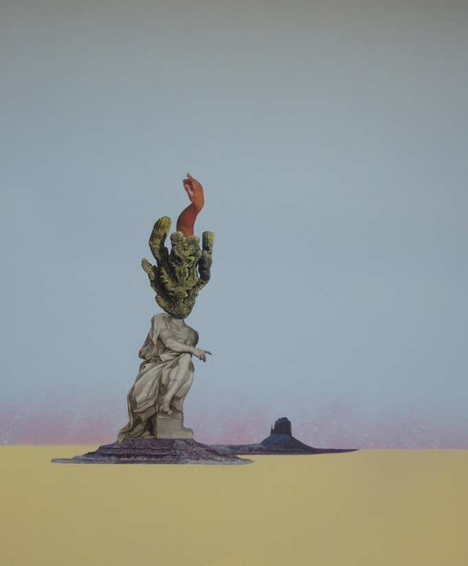JK Russ  Desert Bacchante (Part 3)  2014  Mixed media on watercolour paper  35.5 x 43cm unframed   AUD $750