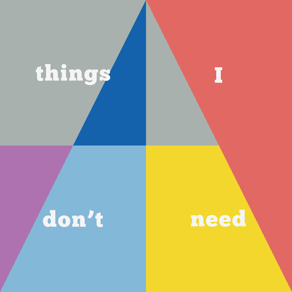 Things I don't need  2014  Household paint on Hahnemühle bamboo paper (4 parts)  100 x 100cm