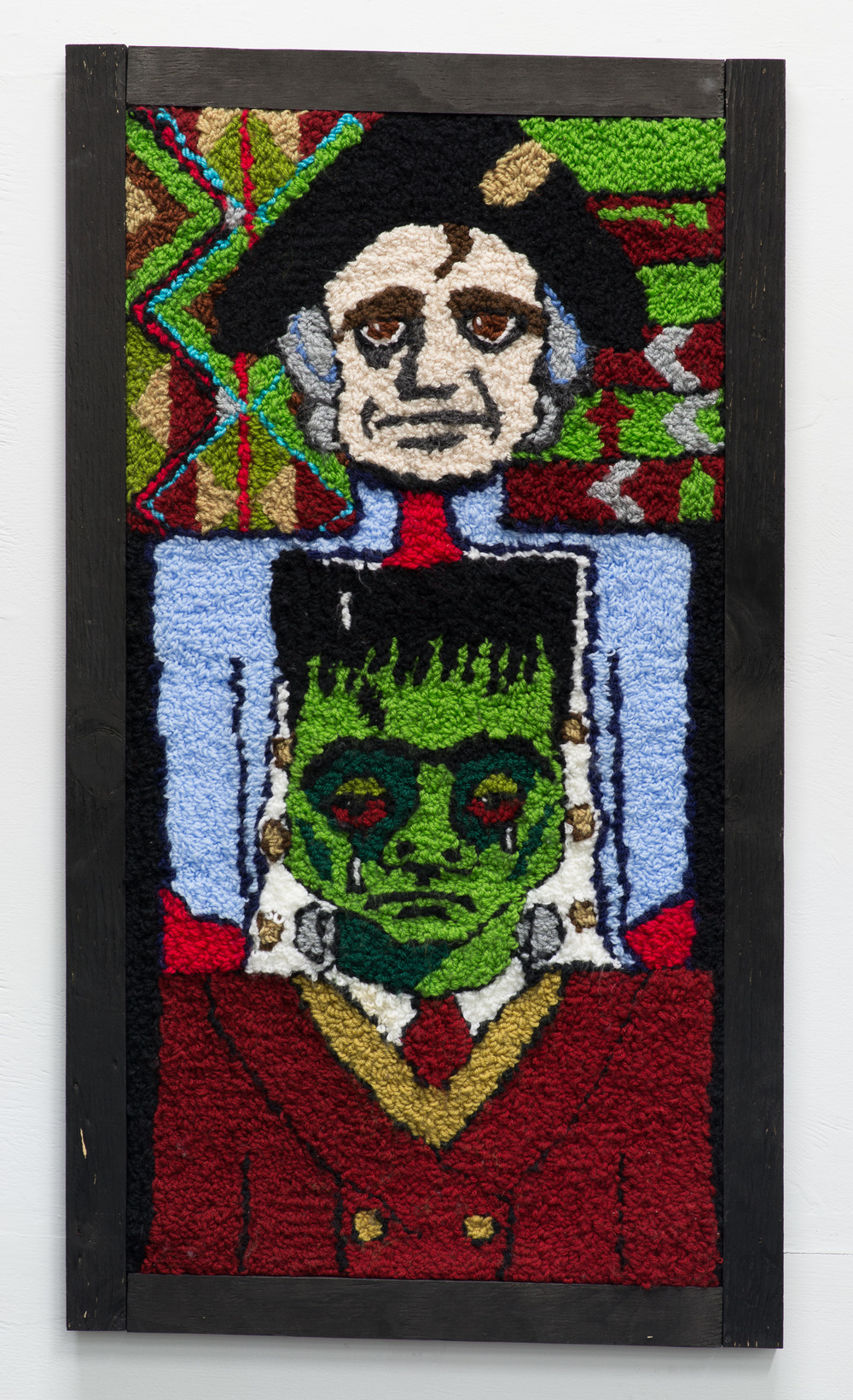Empire is for Dicks  2015  Wool  90 x 55 x 3cm framed