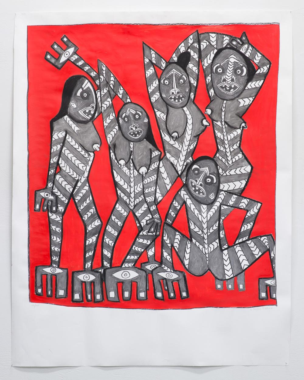 Primitivo  2015  Acrylic on Fabriano paper  130 x 120cm