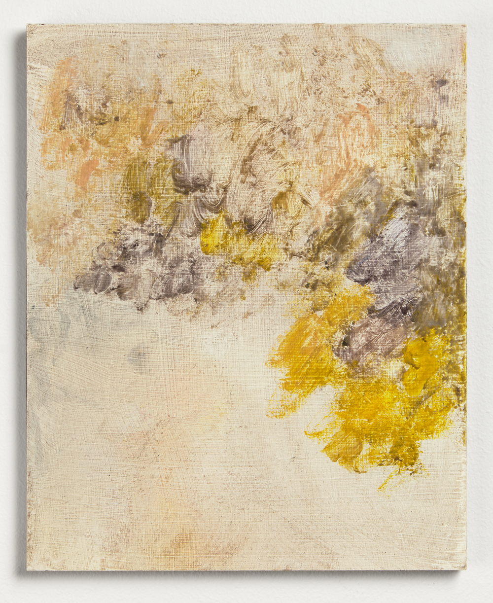 Wattle  2015  Pigment and beeswax on gessoed MDF  25 x 20cm  NZD $450   Enquire