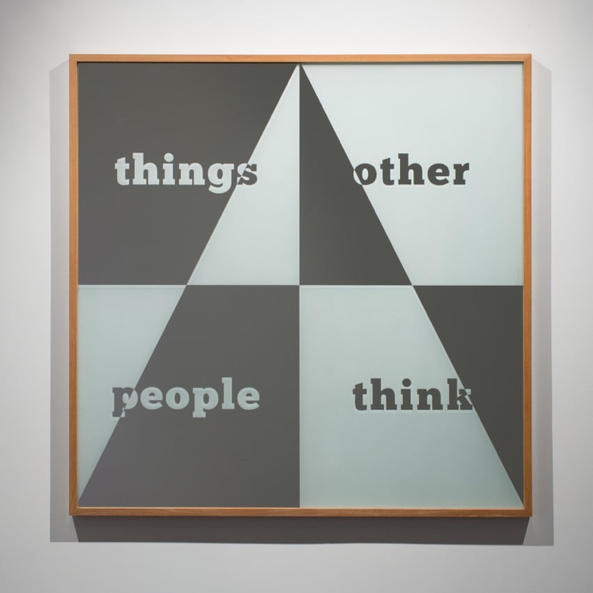 Things other people think  2015  Sandblasted glass mirror  100 x 100 cm