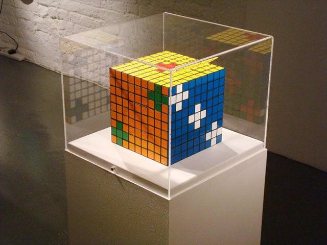 Rubik's Die  2008  Rubik's Cubes, glue  16.2 (h) x 16.2 (w) x 16.2 (d) cm