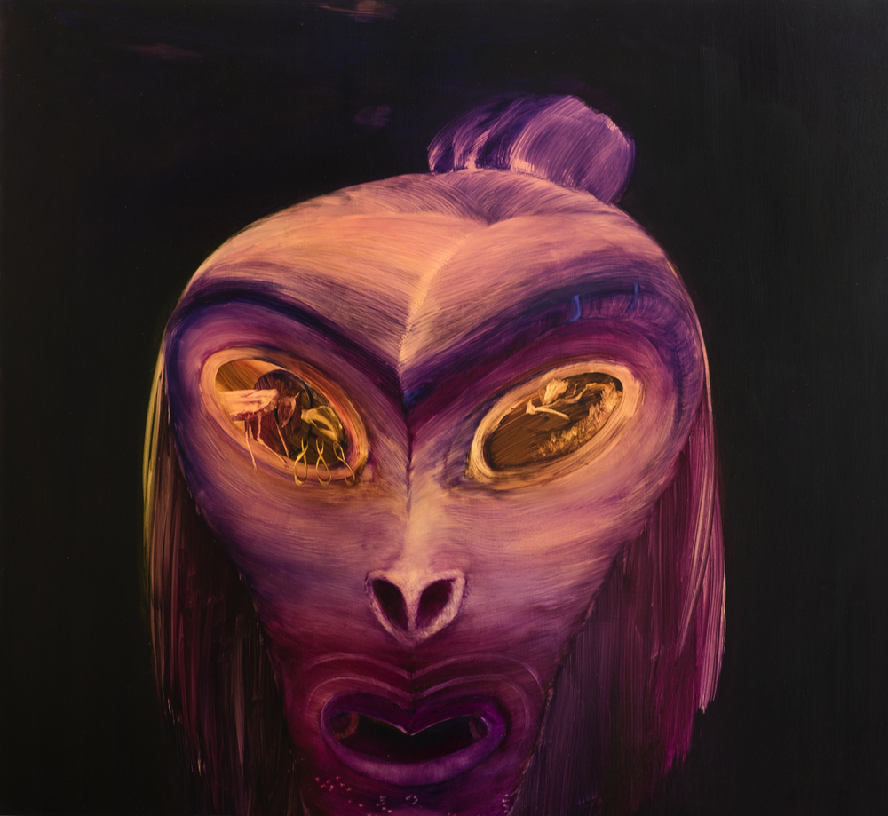 A Mua – The Future  2015 Oil on board 1245 x 1245 x 55mm  Enquire