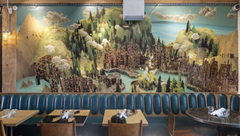 Drake Commissary  in Toronto, mural by artist Alex McLeod. Photo: Toni Hafkenscheid
