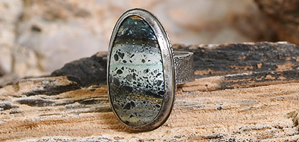 Nevada Turquoise Gemstone Sterling Silver Ring