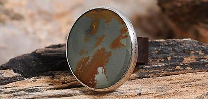 Owyhee Jasper Sterling Silver & Copper Ring