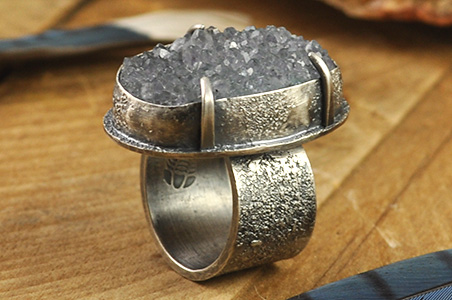 Handcrafted rings fabricated and forged from copper, sterling silver, and/or gold. As part of the design process of any of my jewelry pieces, the gemstones speak to me and inspire me, showing me the way to a beautiful piece of wearable art.