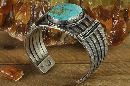 One of my favorite handcrafted gemstone jewelry designs is a cuff bracelet. A handmade gemstone cuff bracelet is a great statement piece to display your favorite gemstone or fossil.