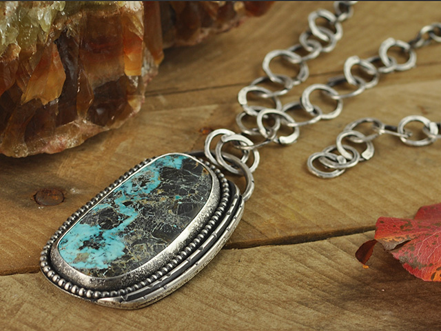 Blue Moon Turquoise Sterling Silver Necklace