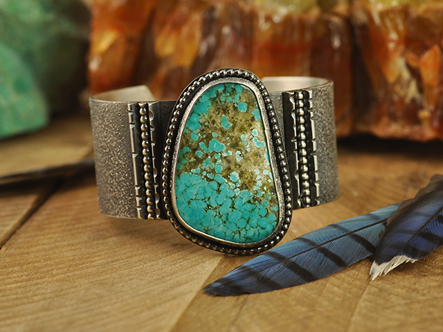 No. 8 Turquoise Sterling Silver Cuff