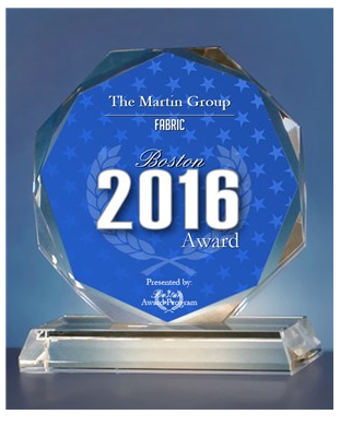 The Martin Group is proud to be a BEST OF BOSTON Award Winner for Fabric.