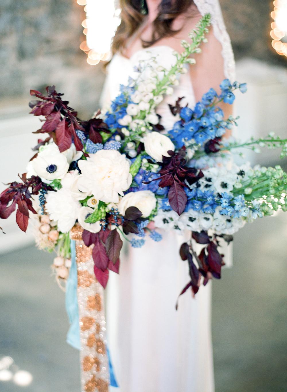 Blue, Bronze, Burgundy, wedding inspiration, The Miners Foundry, Nevada City,