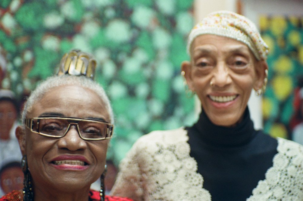 Faith Ringgold and Aminah Robinson at the 2010 Garden Party