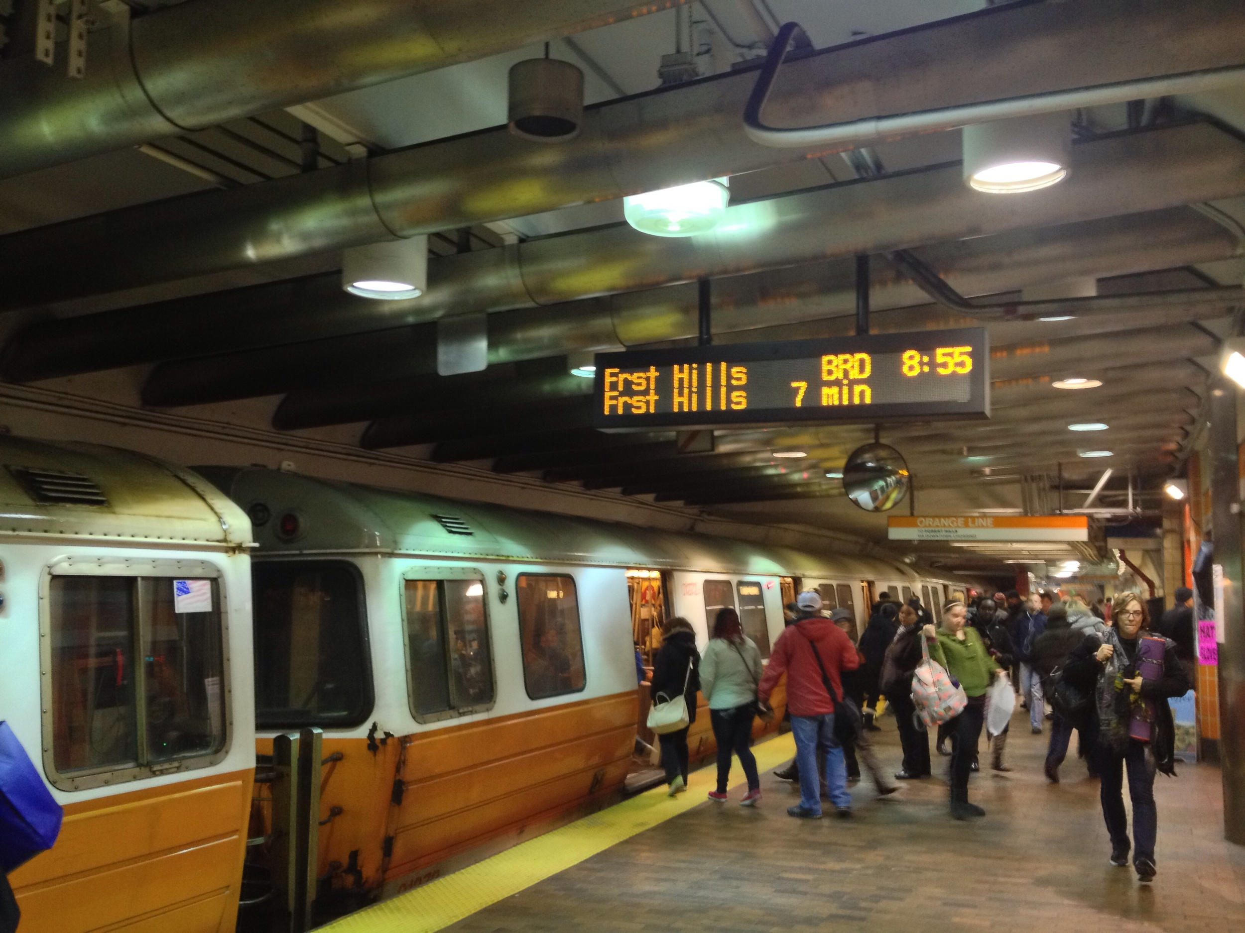 Countdown clocks at 24 stations greeted groggy commuters Monday morning.