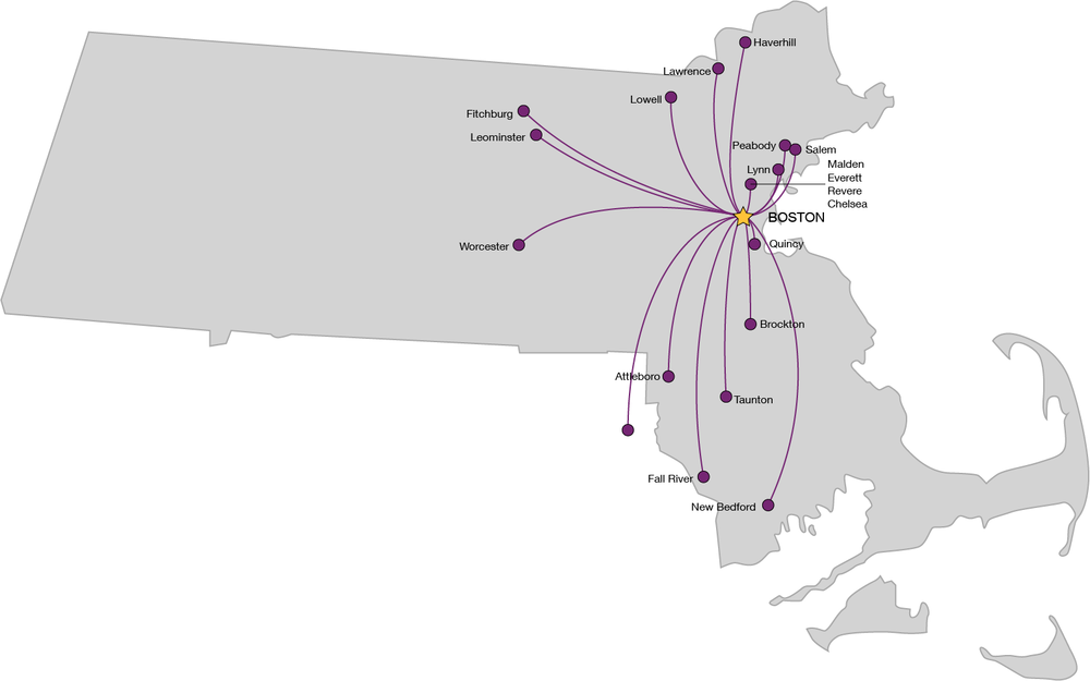 Regional Rail would connect Gateway Cities to Boston, Providence, and each other with frequent, reliable service