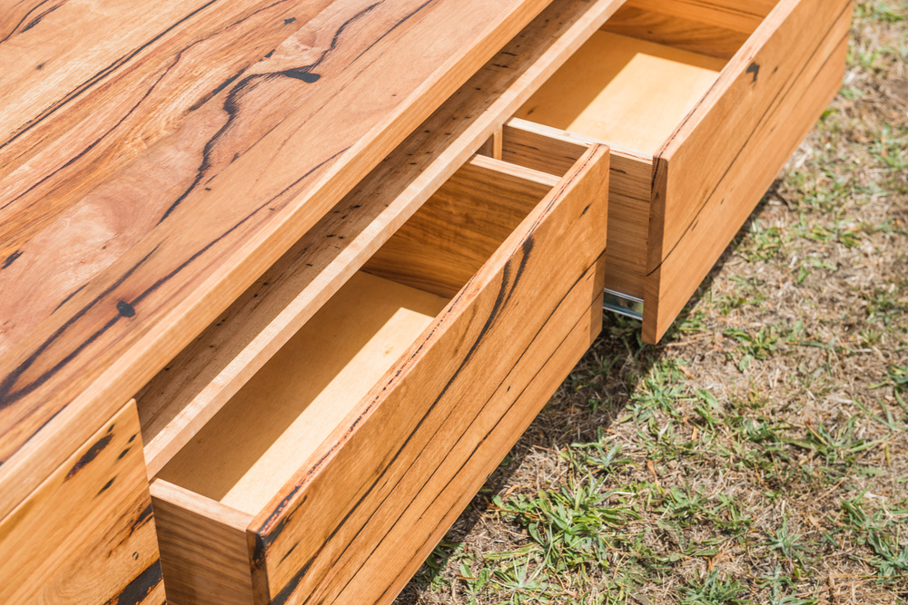 custom timber TV cabinet