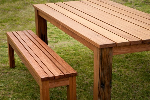 Outdoor Dining Table Reclaimed Timber Outdoor Tables